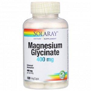 Solaray, глицинат магния, 400 мг, 120 растительных капсул