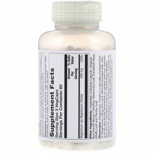 Solaray, Цитрат магния, 400 мг, 180 растительных капсул