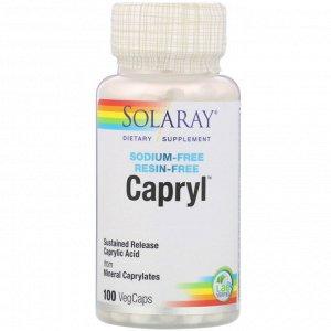 Solaray, Каприл, замедленное высвобождение, 100 растительных капсул