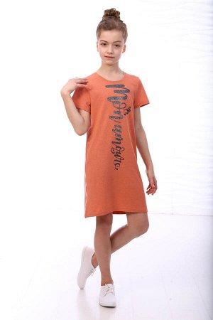 Платье детское, оранжевый