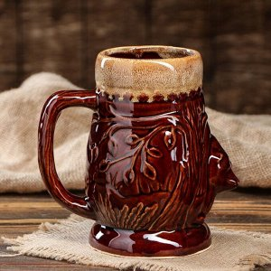 "Кружка для пива ""Медведь"" 0,95 л, керамика"
