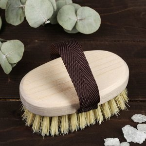 Щётка банная из щетины тампико с ремешком