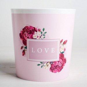 Кашпо Love. 1.6 л. 14 х 14 см