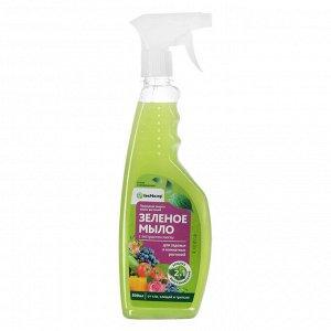 """Зеленое мыло с пихтовым экстрактом """"БиоМастер"""", с распылителем, 500 мл"""