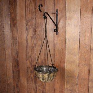 Кашпо подвесное, d = 30 см, плетёное, «Конус»