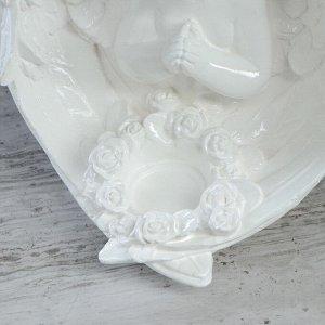 """Статуэтка """"Ангел с цветами"""", белая, 23 см"""