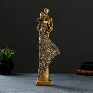 "Фигура ""Пара"" темное золото, 7х14х39см"