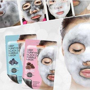 Кислородная пузырьковая маска для лица PUREDERM Deep Purifying Black O2 Bubble Mask Volcanic, 20g