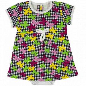 Боди-платье интерлок 0673200101 для новорожденного