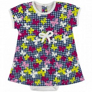Боди-платье интерлок 0673200104 для новорожденного