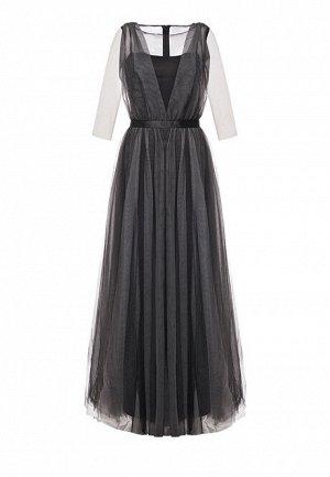 Длинное платье, цвет черный