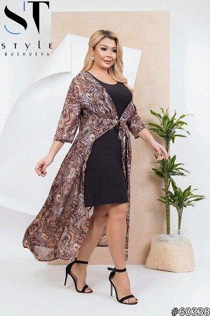Комплект 60338 (платье + туника)