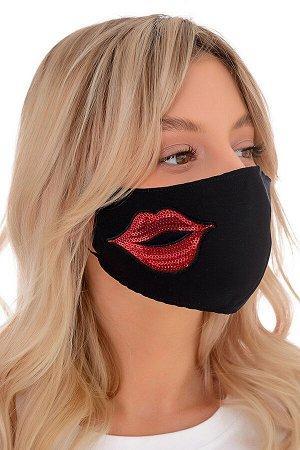 Маска для лица чёрная (губы)