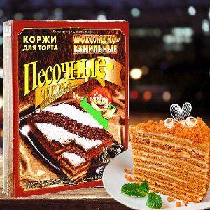 Коржи для торта песочные шоколадно-ванильные Черока, 400г