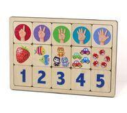 """Игра развивающая деревянная """"Считаем до пяти"""" арт.00735"""