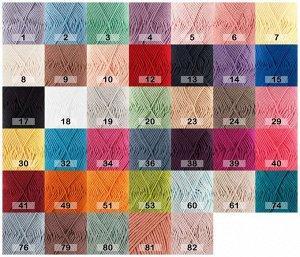 MUSKAT Дропс мускат - это красочная хлопковая пряжа, изготовленная из 100% египетского мерсеризованного хлопка, тончайшего длинного хлопкового волокна. Пряжа состоит из нескольких тонких нитей, которы