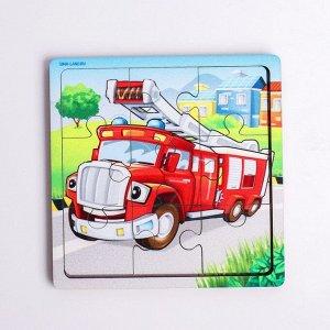 Пазл «Пожарная машина», 9 деталей