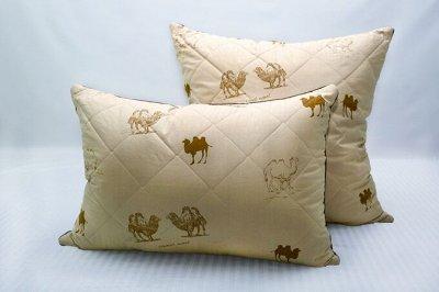 Одеяла и подушки по низким ценам+всем в подарок полотенце-11 — Подушки Верблюжья шерсть