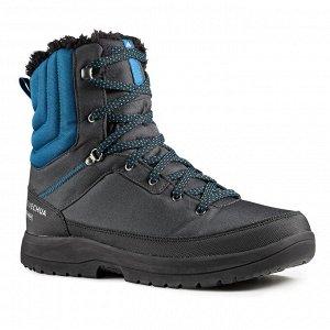 Ботинки мужские для зимних походов SH100 WARM HIGH высокие мужские QUECHUA