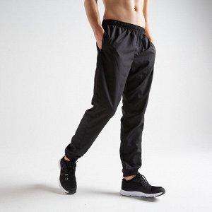 Брюки для фитнеса мужские FPA 120 цвет:черный DOMYOS