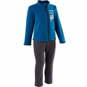 Спортивный костюм Warm'y 100 на молнии для детской гимнастики синий DOMYOS