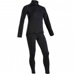 Спортивный костюм теплый, синтетический дышащий S500 GYM для девочек DOMYOS
