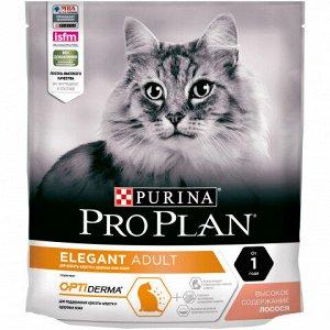 Pro Plan Elegant Adult для взрослых кошек с чувствительной кожей Лосось 400г