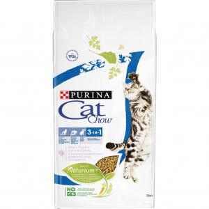 Cat Chow 3 in 1 сухой корм для кошек 3 в 1 профилактика МКБ, зубного камня, вывод шерсти 1,5кг АКЦИЯ!