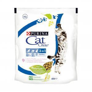 Cat Chow 3 in 1 сухой корм для кошек 3 в 1 профилактика МКБ, зубного камня, вывод шерсти 400гр АКЦИЯ!