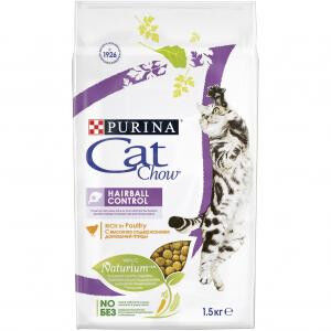 Cat Chow Hairball Control сухой корм для кошек Контроль комочков шерсти 1,5кг АКЦИЯ!