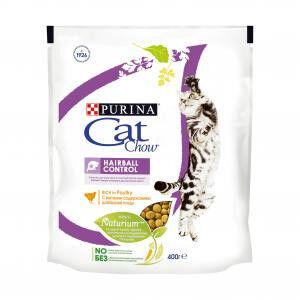 Cat Chow Hairball Control сухой корм для кошек Контроль комочков шерсти 400гр АКЦИЯ!