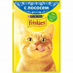 Friskies влажный корм для кошек Лосось в подливе 85гр пауч