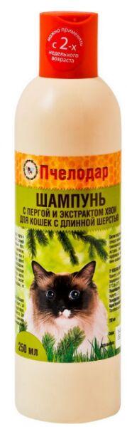 Пчелодар шампунь с пергой и хвоей для длинношерстных кошек 250мл