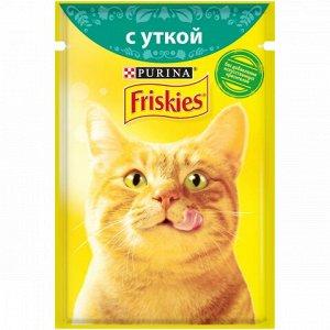 Friskies влажный корм для кошек Утка в подливе 85гр пауч