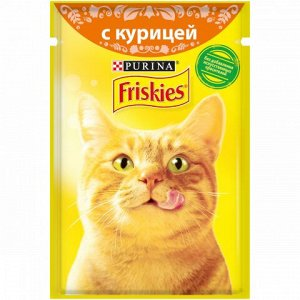 Friskies влажный корм для кошек Курица в подливе 85гр пауч