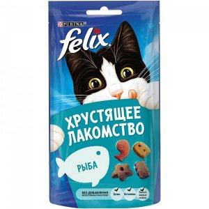 Purina Felix хрустящее лакомство для взрослых кошек с Рыбой, 60г