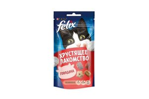Purina Felix хрустящее лакомство для взрослых кошек с Говядиной, 60г