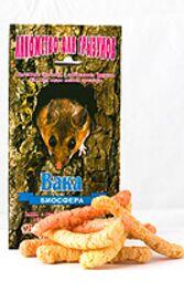 Вака Лакомство для грызунов Хрустящие трубочки с фруктами 30гр