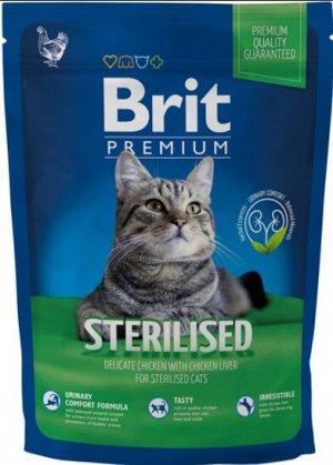 Brit Premium Cat Sterilised сухой корм для стерилизованных кошек с курицей и куриной печенью 800гр