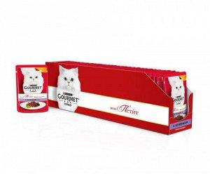 Gourmet Mon Petit влажный корм для кошек Ягненок 50гр пауч АКЦИЯ!