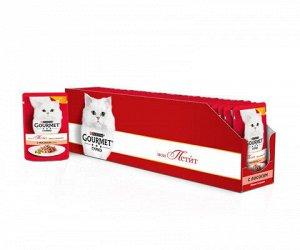 Gourmet Mon Petit влажный корм для кошек Лосось 50гр пауч АКЦИЯ!