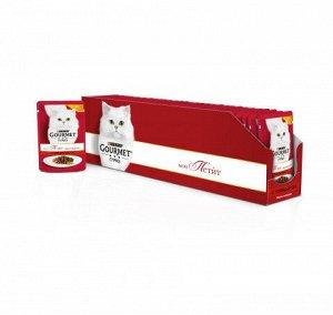 Gourmet Mon Petit влажный корм для кошек Говядина 50гр пауч АКЦИЯ!