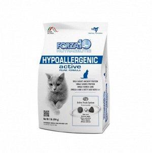 Forza10 Cat Hypoallergenic Active диета сухой корм для взрослых кошек с пищевой непереносимостью и аллергией 0,454кг