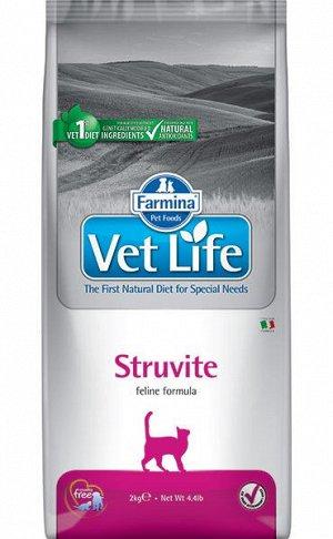 Farmina Vet Life Cat Struvite диета сухой корм для кошек МКБ струвитного типа 400гр
