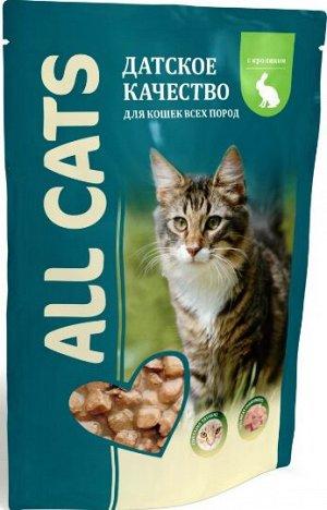 All Cats влажный корм для кошек Кролик в соусе 85гр пауч