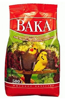 Вака ВК 500г для попугаев минералы + овощи