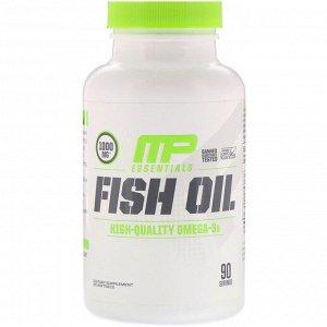 MusclePharm, Essentials, рыбий жир, 90 гелевых капсул