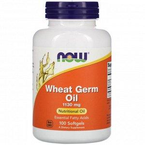 Now Foods, Масло из зародышей пшеницы, 1130 мг, 100 мягких желатиновых капсул