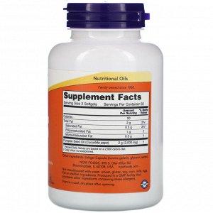 Now Foods, Тыквенное масло, 1000 мг, 100 мягких таблеток