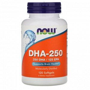 Now Foods, ДГК-250, 120 мягких желатиновых капсул